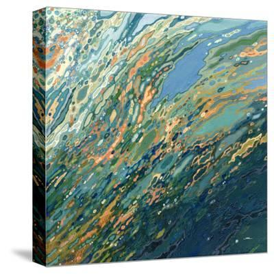 Blue Ocean Sunset-Margaret Juul-Stretched Canvas Print