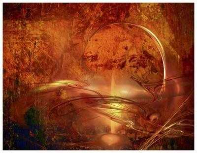 Liquid Perspective II-Jean-Fran?ois Dupuis-Framed Art Print