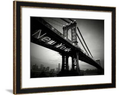 New York Bridge-Blonde Attitude-Framed Art Print