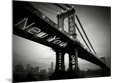 New York Bridge-Blonde Attitude-Mounted Art Print