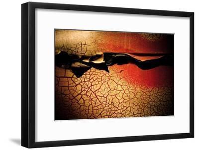 Abstract Rust Circle I-Jean-Fran?ois Dupuis-Framed Art Print