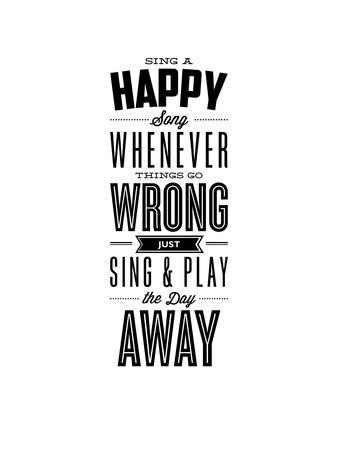 Sing a Happy Song Whenever Things Go Wrong-Brett Wilson-Framed Art Print