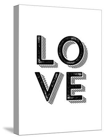 LOVE-Brett Wilson-Stretched Canvas Print