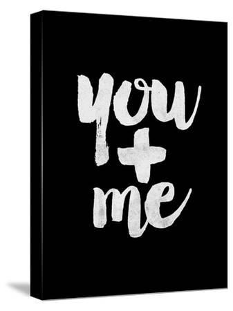 You + Me BLK-Brett Wilson-Stretched Canvas Print