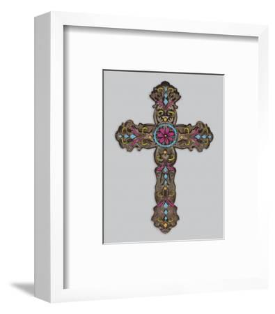Cross III-Maria Mendez-Framed Art Print