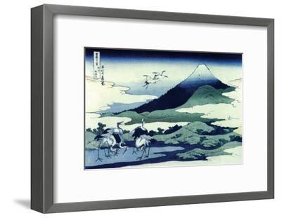 Umegawa in Sagami Province-Katsushika Hokusai-Framed Art Print