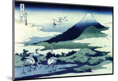 Umegawa in Sagami Province-Katsushika Hokusai-Mounted Art Print