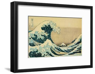 Great Wave Off Kanagawa-Katsushika Hokusai-Framed Art Print
