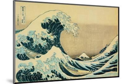 Great Wave Off Kanagawa-Katsushika Hokusai-Mounted Art Print