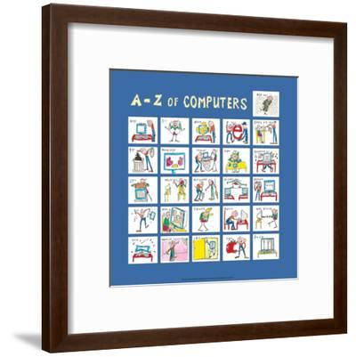A - Z of Computers-Nicola Streeten-Framed Art Print