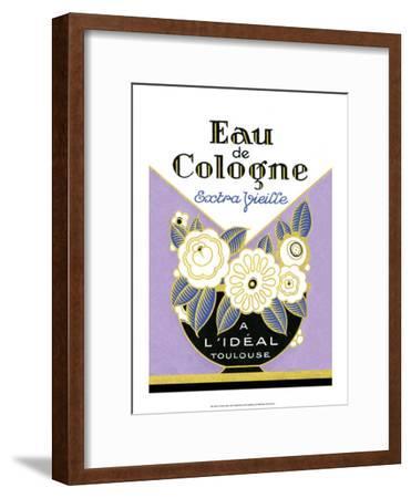 Vintage Art Deco Label, Eau de Cologne--Framed Art Print