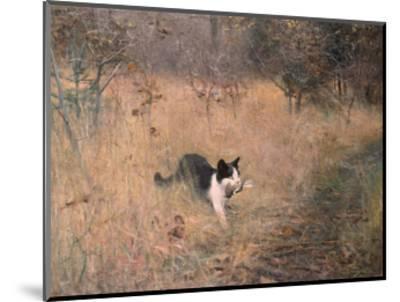 Cat Hunting, 1883-Bruno Liljefors-Mounted Art Print