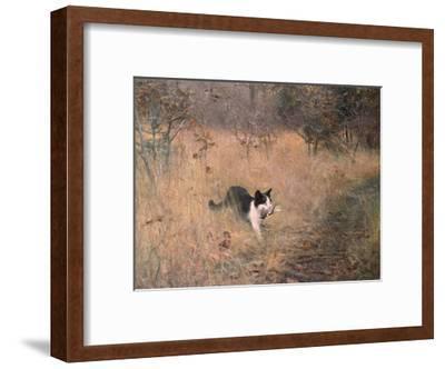 Cat Hunting, 1883-Bruno Liljefors-Framed Art Print