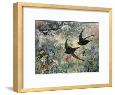 Swifts, 1886-Bruno Liljefors-Framed Art Print