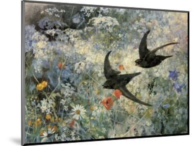 Swifts, 1886-Bruno Liljefors-Mounted Art Print