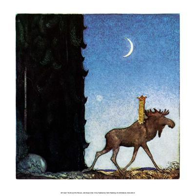 The Moose and the Princess-John Bauer-Framed Art Print