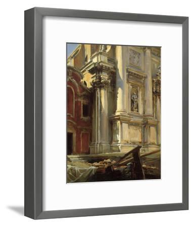 Corner of the Church of San Stae, Venice, 1913-John Singer Sargent-Framed Art Print