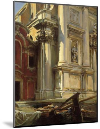 Corner of the Church of San Stae, Venice, 1913-John Singer Sargent-Mounted Art Print