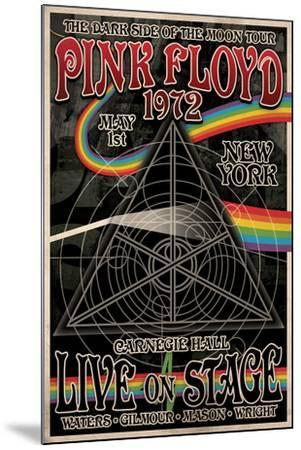 Pink Floyd 1972 Carnegie Hall--Mounted Poster