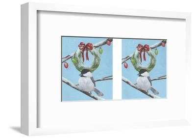 Chickadee Christmas III 2-Up-Grace Popp-Framed Art Print