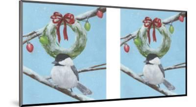 Chickadee Christmas III 2-Up-Grace Popp-Mounted Art Print