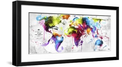 Abstract Map - World--Framed Giclee Print