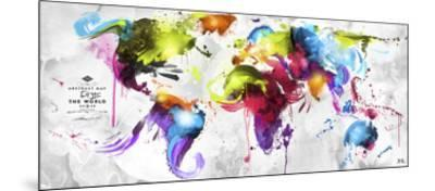 Abstract Map - World--Mounted Giclee Print