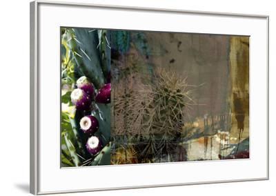 Texas Cactus Collage-Sisa Jasper-Framed Giclee Print