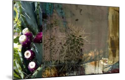 Texas Cactus Collage-Sisa Jasper-Mounted Giclee Print