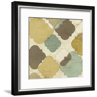 Quatrefoil Overlay IV-June Erica Vess-Framed Giclee Print