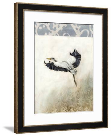 Waterbirds in Mist IV-Naomi McCavitt-Framed Giclee Print