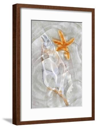 Underwater Light Waves VII-Leda Robertson-Framed Art Print