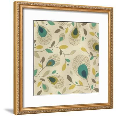 Peacock Blooms II-June Erica Vess-Framed Giclee Print