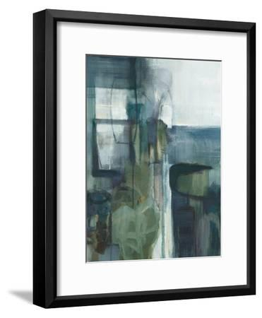 Blue Geometry-Terri Burris-Framed Art Print