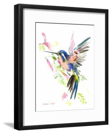 Hummingbird Flying-Suren Nersisyan-Framed Art Print