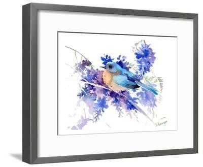 Eastern Bluebird-Suren Nersisyan-Framed Art Print