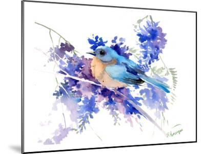 Eastern Bluebird-Suren Nersisyan-Mounted Art Print