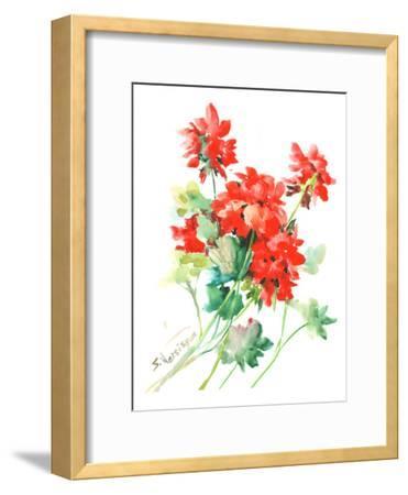 Geranium Red-Suren Nersisyan-Framed Art Print