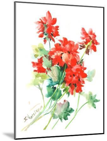 Geranium Red-Suren Nersisyan-Mounted Art Print