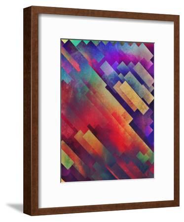 spyctrym yf yngyr-Spires-Framed Art Print