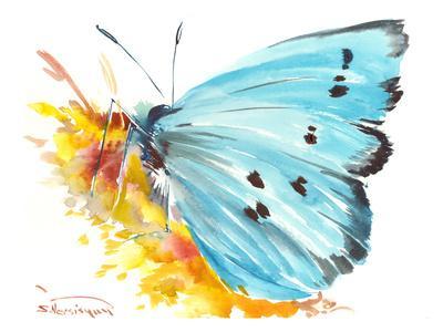 Holly Blue Butterfly 2-Suren Nersisyan-Framed Art Print