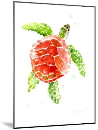 Sea Turtle Red-Green-Suren Nersisyan-Mounted Art Print