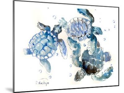Sea Turtles-Suren Nersisyan-Mounted Art Print