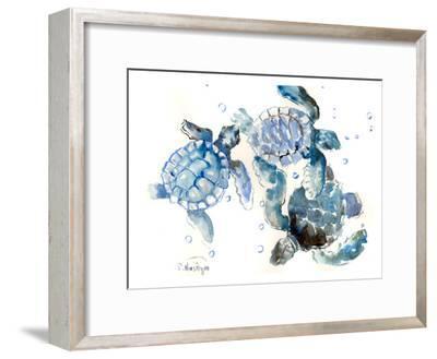 Sea Turtles-Suren Nersisyan-Framed Art Print