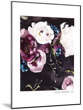 Blooms On Black 5--Mounted Art Print