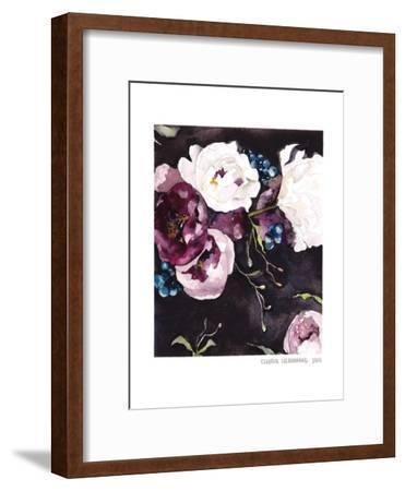 Blooms On Black 5--Framed Art Print
