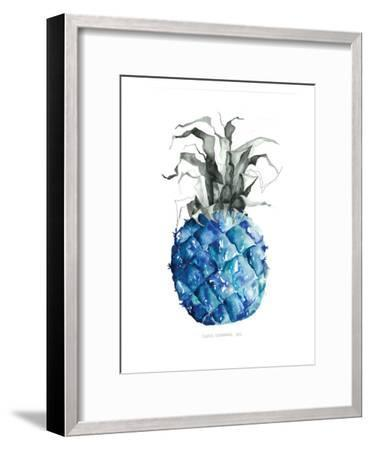 Pineapple_blue--Framed Art Print