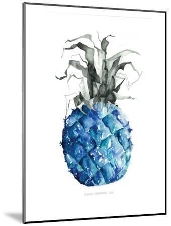 Pineapple_blue--Mounted Art Print