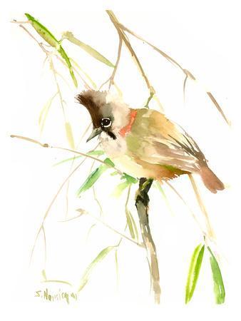 Yuhina Bird-Suren Nersisyan-Framed Art Print
