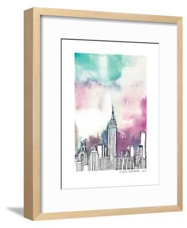 Neon Sky--Framed Art Print